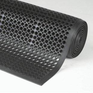 Rubber mat anti slip Sanitop black industry