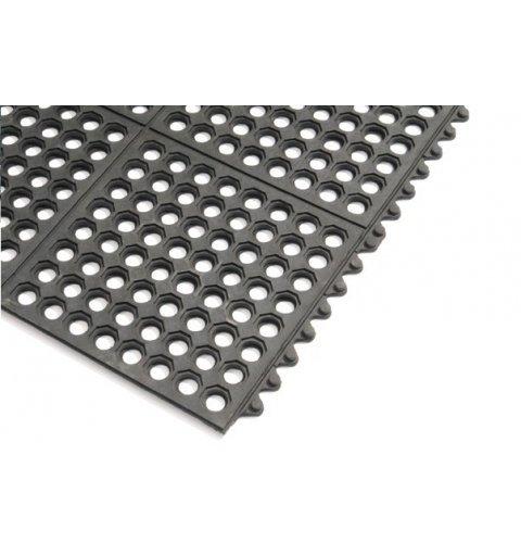 mata modułowa płytki gumowe łączone z sobą 90x90 cm czarne
