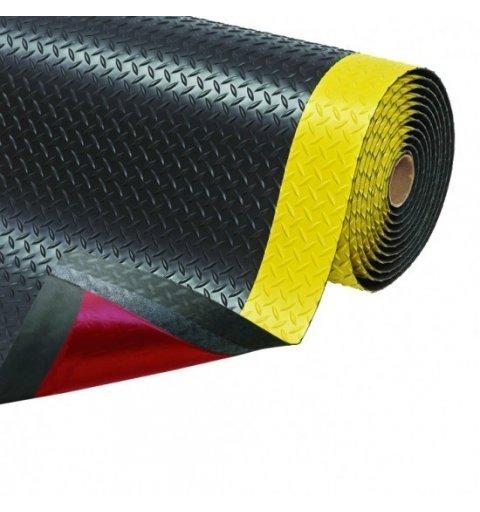 Mata Cushion Trax antypoślizgowa antyzmęczeniowa ergonomiczna czarna żółte brzegi