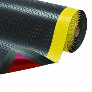 Anti-slip mat anti-fatigue ergonomic Cushion Trax  black yellow
