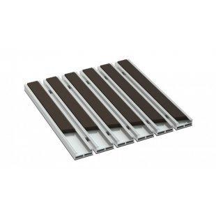 Aluminium deurmat BETA 12 mm rubber ryfel