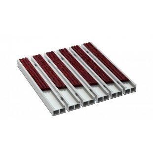 Aluminium deurmat Alfa h 19 mm grosgrain