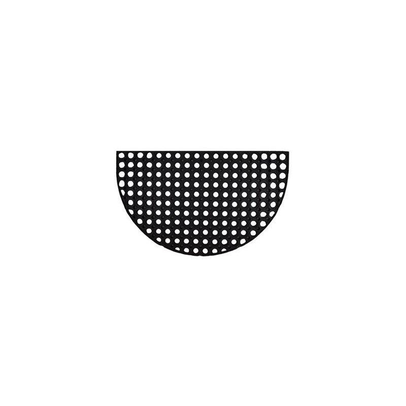 Wycieraczka gumowa czarna Gummy półokrągła 45x75 półkole