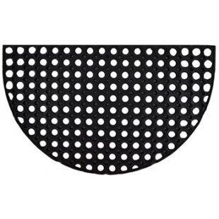 Gummi halbrunde Fußmatte 45x75 cm Gummi