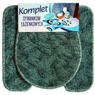 Bathroom rug 2 parts set of mats