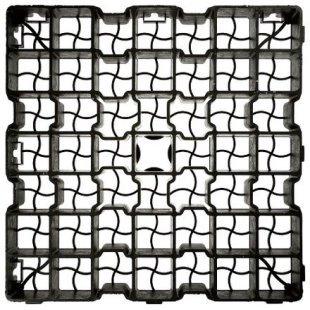 kratka trawnikowa G4 rozmiar 50x50 cm kolor czarny uniwersalna