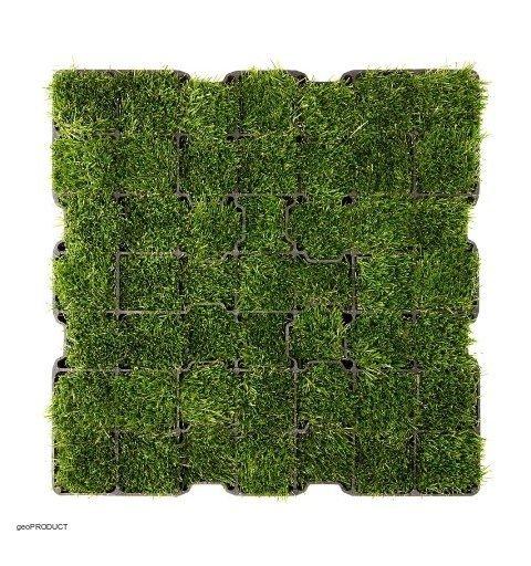Kratka trawnikowa SYSTEM G3 50x50 cm h 3 cm zdjecie z trawą