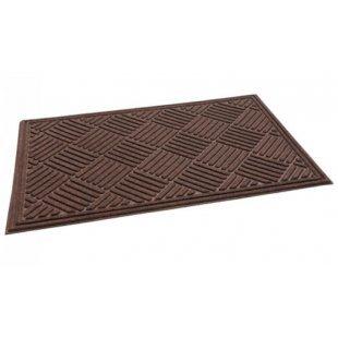 Rubberen wisser CrossHatch Walnut Brown 91x152