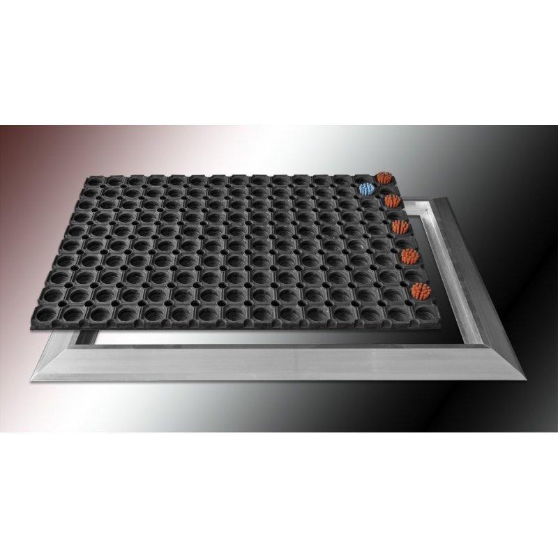 Wycieraczka mata gumowa z najazdem aluminiowym 50x70 60x110 110x160 cm