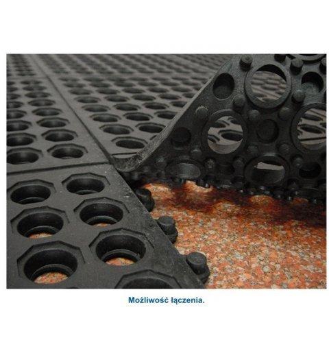 mata modułowa płytki gumowe 90x90 cm spód maty ażurowej