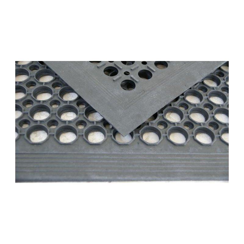 Wycieraczka gumowa antypoślizgowa mata wejściowa ażurowa z najazdem 90x150 cm kolor czarny 5908287964525