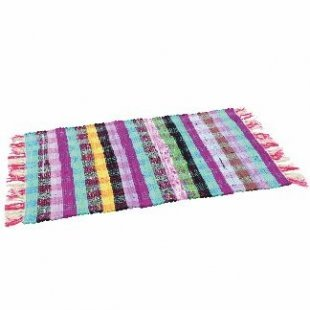 Rug 50x80 cm colorful lined