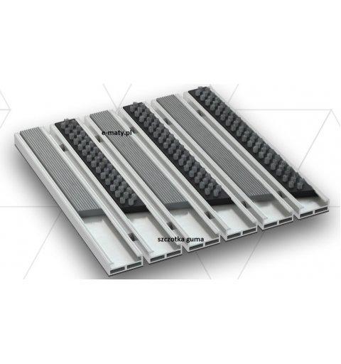 Wycieraczka aluminiowa szczotka guma 12 mm Beta gamma