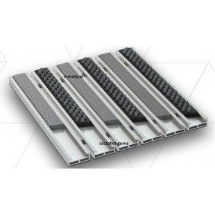 Aluminium Beta Gamma Wischer 12mm Gummibürste