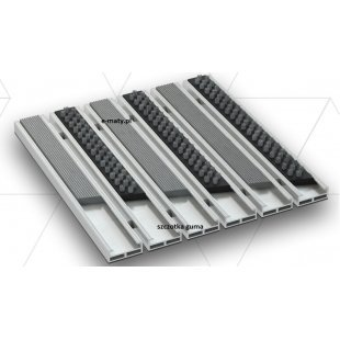 Aluminium Beta Gamma wisser 12mm rubberen borstel