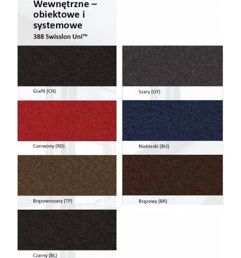 Mata wejściowa Swisslon Uni wzornik kolorów ikonki z kolorami