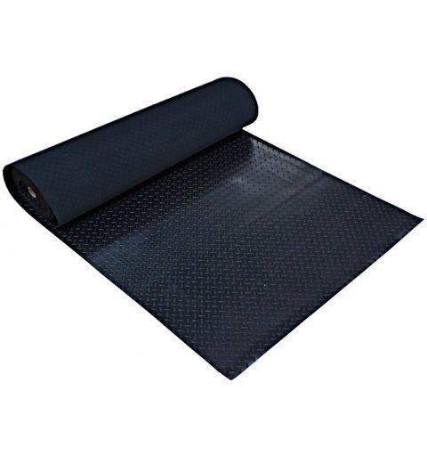 Mata gumowa Checker rolka 1x20 mb wykładzina gumowa czarna w kratę
