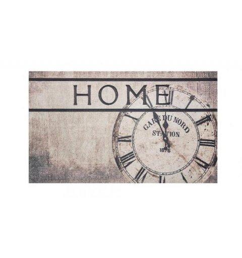 Wycieraczka do butów z napisem home Poly Home Clock zegar