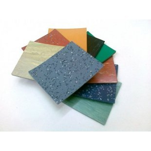 Smooth rubber floor coverings