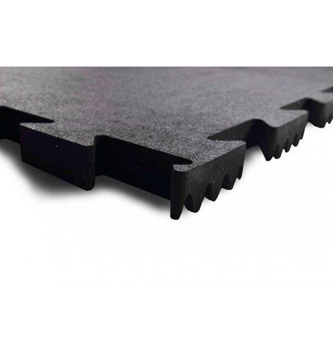 Maty na siłownię fitness puzzle 100x100 cm nakrapiana 15% epdm