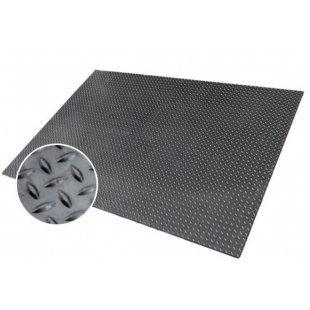 Industriële geruite rubberen vloermat