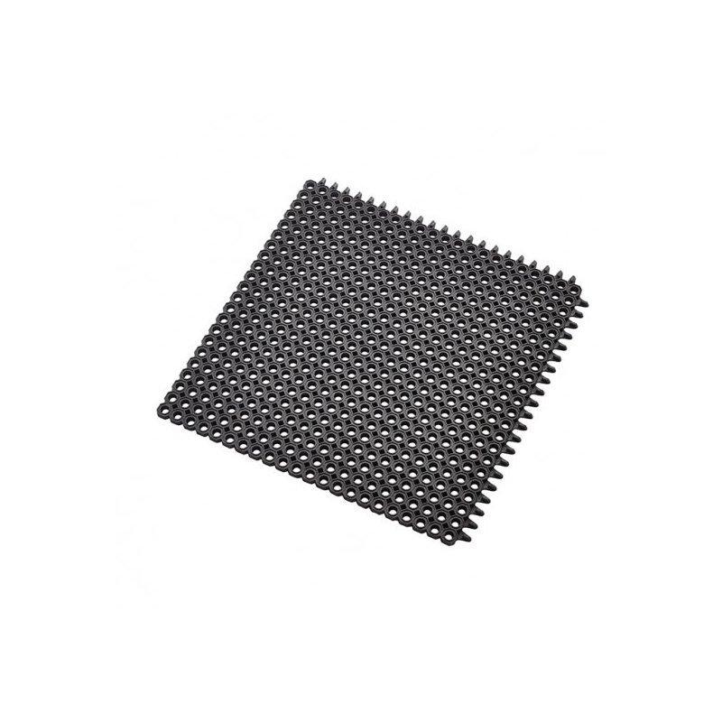 Mata wejściowa gumowa antypoślizgowa 50x50 cm Master Flex C12 modułowa łączona czarna h 12 mm