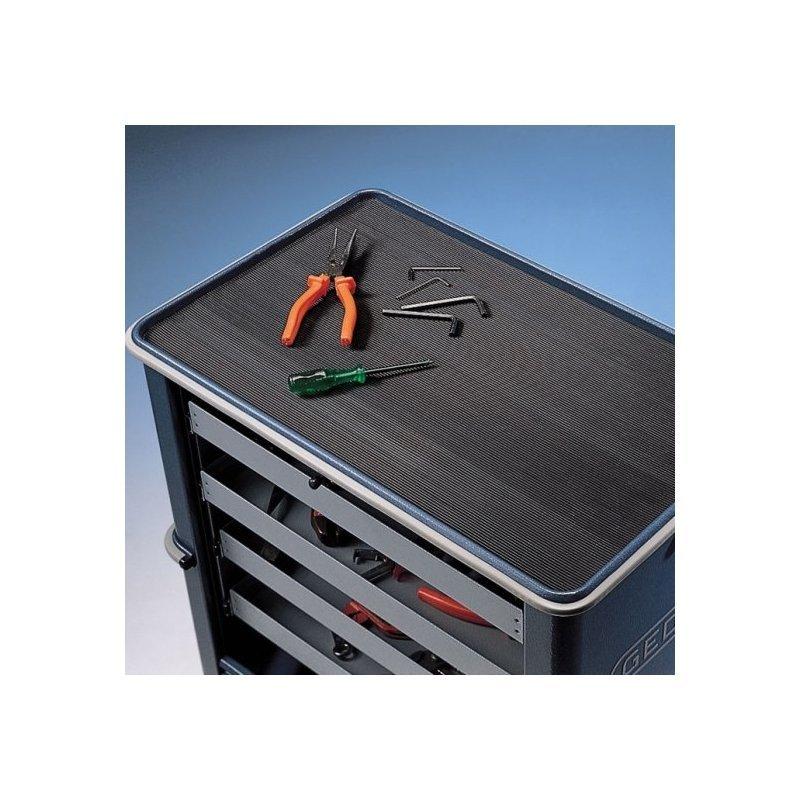 Mata gumowa szeroki ryfel Rib n Roll 3 mm mata na stoły i wózki warsztatowe czarna