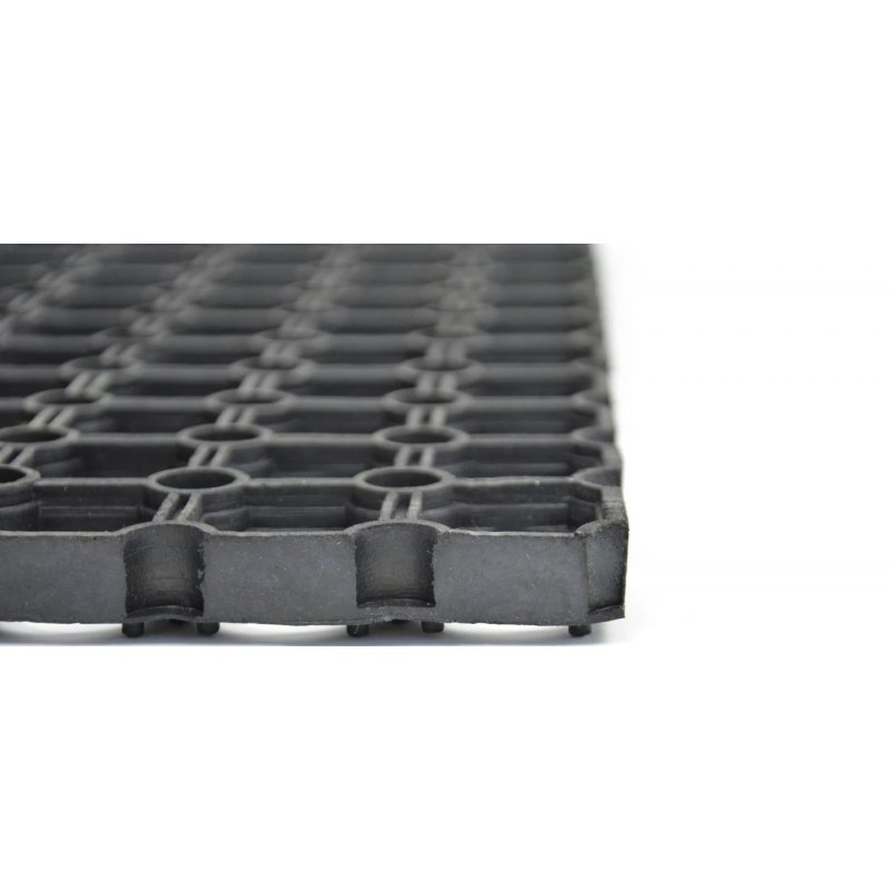 Wycieraczka mata gumowa Gummy rozmiar 80x120 cm czarna