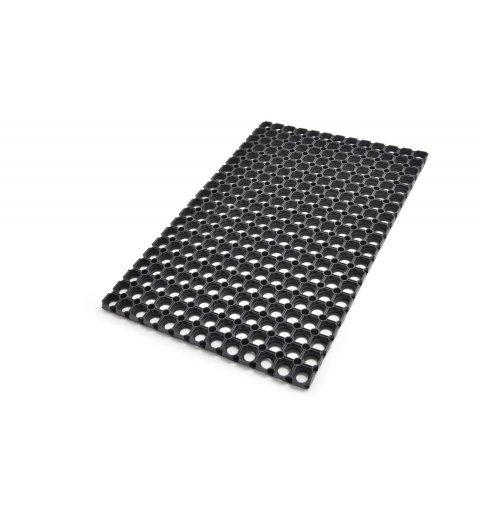 Wycieraczka do butów model Gummy wymiar 50x80 cm czarna ażurowa mata z gumy