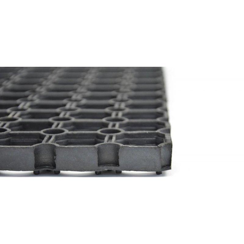 Wycieraczka mata gumowa czarna Gummy rozmiar 40x60 cm