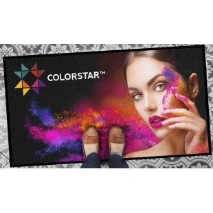 Matten mit aufgedrucktem Colorstar-Fußmattenlogo