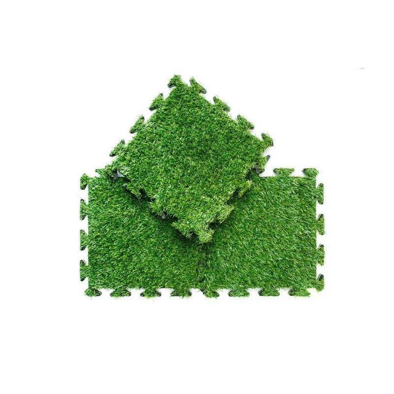 Trawa bezzasypowa z podkładami puzzle 30x30 cm