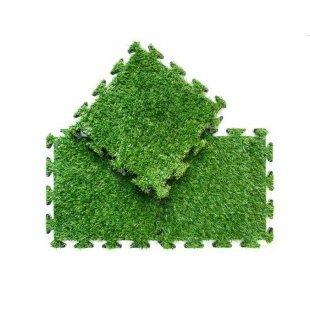 Gras Puzzle 30x30 cm ohne Fliesen mit Schwellen