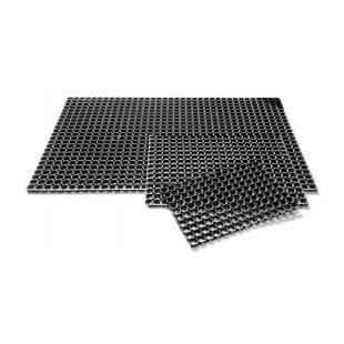 Rubberen mat deurmat Domino opengewerkt