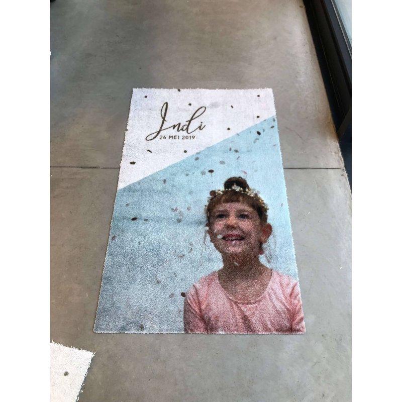 Mata z logo Alure wycieraczka z zdjęciem dziecka