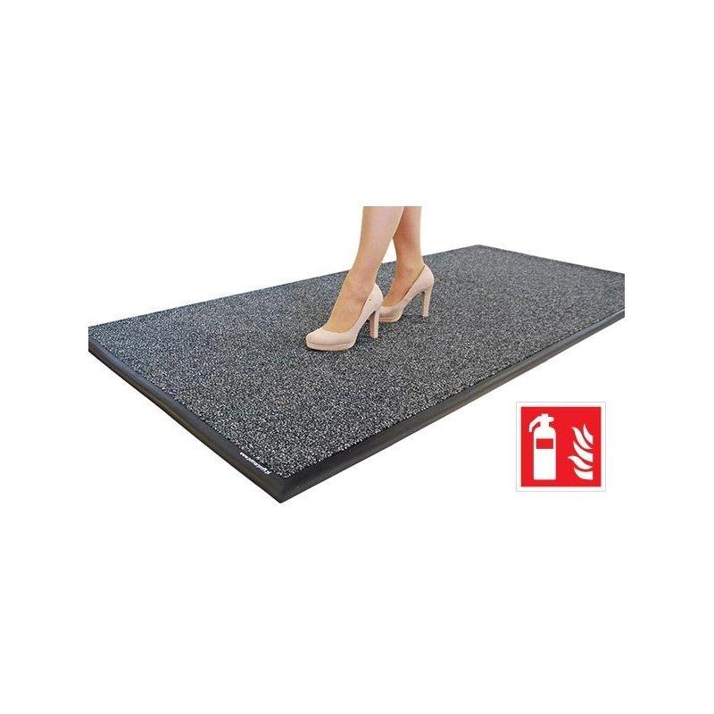 Mata wejściowa tekstylna FireSTOP wycieraczka do czyszczenia obuwia wewnętrzna