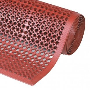 Mat for gastronomy and industry Sanitop Red