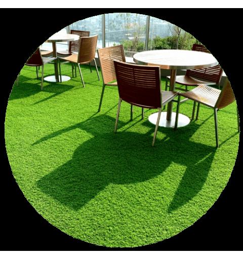 realizacja Sztuczna trawa w rolce 120x500 cm Rekograss roll max