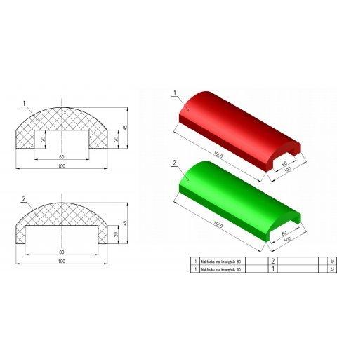 Nakładka elastyczna na krawężnik NE szerokość 6 cm
