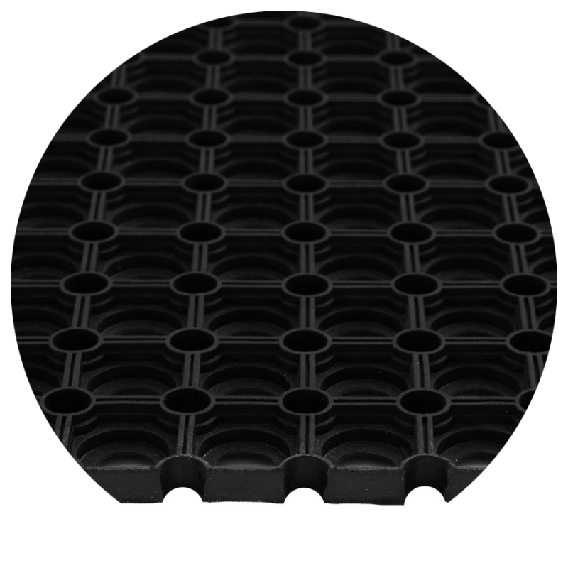 Wycieraczka do butów gumowa Domino mata ażurowa czarna detal foto