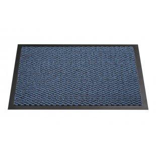Wycieraczka do butów mata Milano 100% PP PCV kolor niebieski nakrapiany czarnym zdjęcie z góry