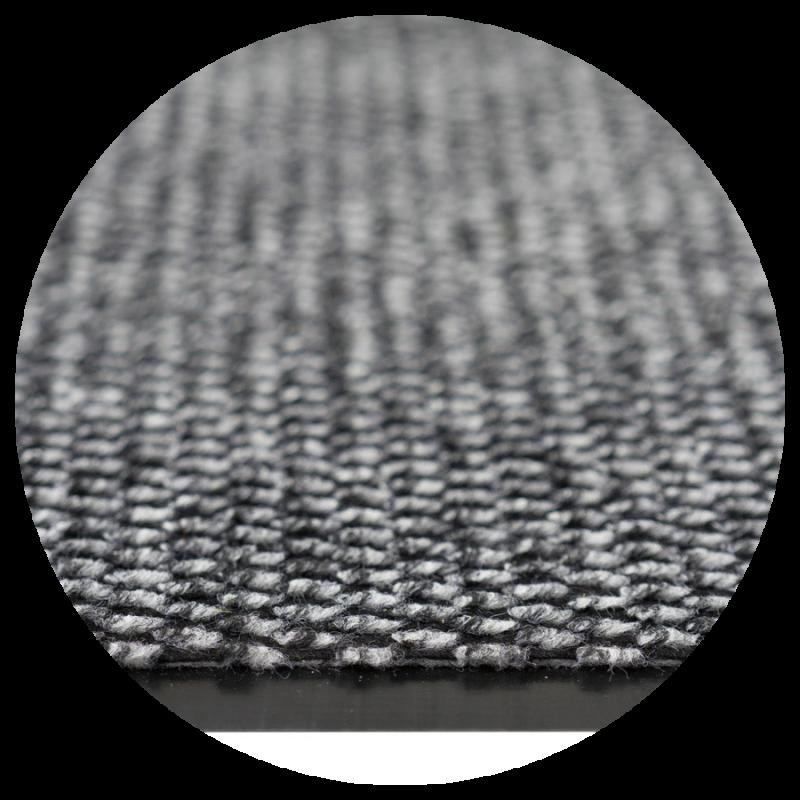 Wycieraczka do butów Roma tekstylna mata 100% polipropylen kolor szary czarnym nakrapianiem zdjęcie detalu z bliska