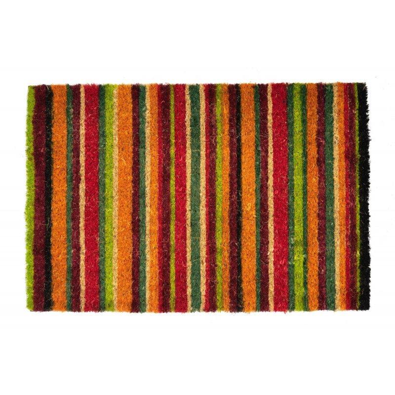 Wycieraczka kokosowa w kolorowe lini tęcza Couleur 5 40×60 cm kod produktu 890-013