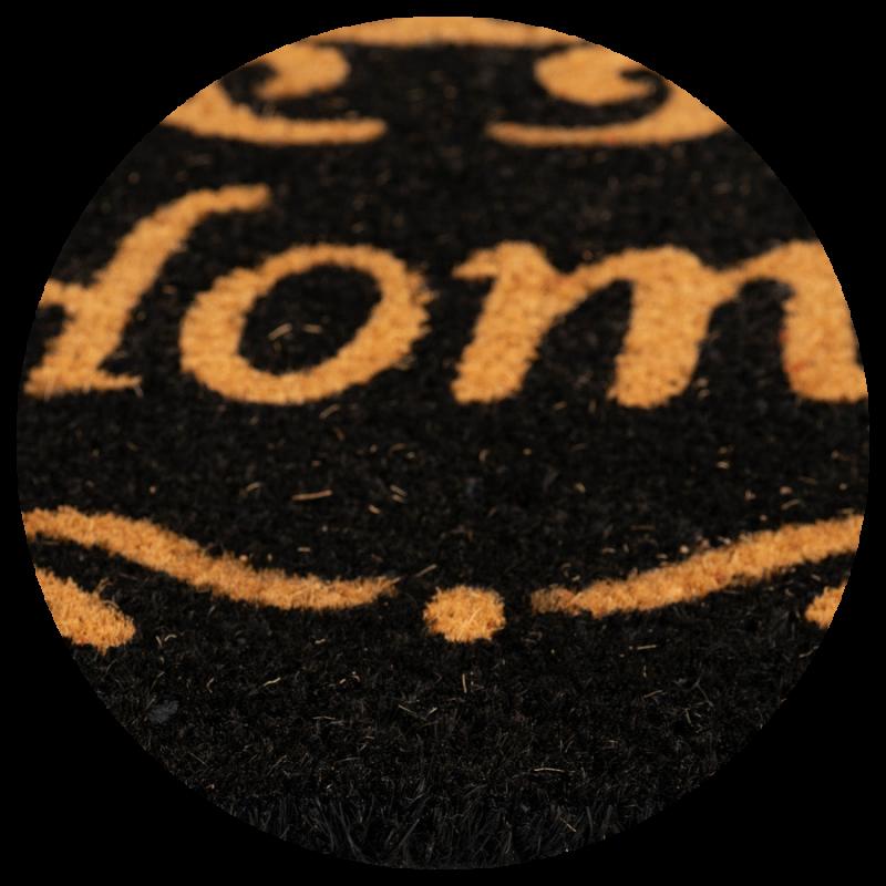 Wycieraczka do butów kokosowa czarna Home Couleur 8 40×60 cm zdjęcie z bliska detalu