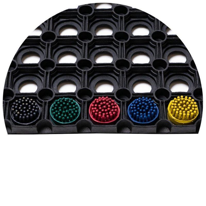 Szczotki szczoteczki do wycieraczki gumowej Domino kolory zdjecie w macie domino