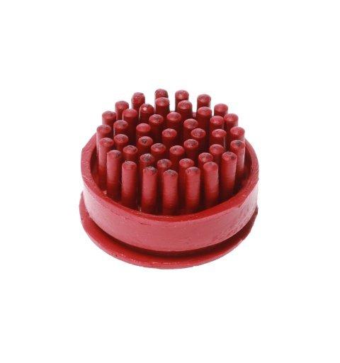 Szczotki szczoteczki do wycieraczki gumowej Domino kolor czerwony