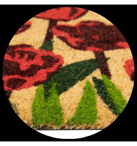 Wycieraczka kokosowa w kwiaty maki Couleur 1 40x60 cm 890-002 ean 5902211890027