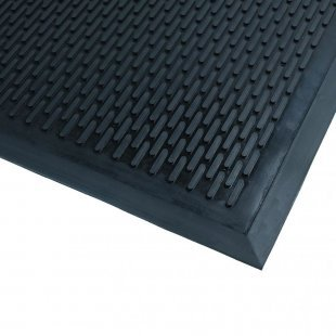 Rubber mat Soil guard doormat black scrape