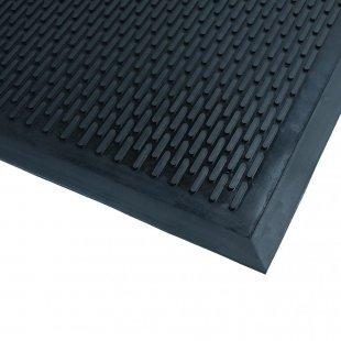 Rubberen mat Bodembewaking deurmat zwart schraap