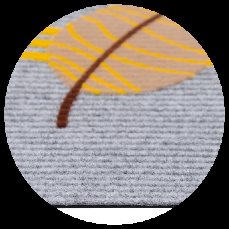 Wycieraczka Igłowana Libra liście model 2 40x60 cm tekstylna kolor popielaty szary jasny 860-000 ean 5902211618607